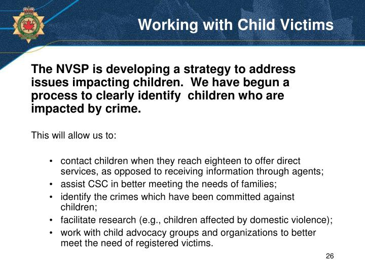 Working with Child Victims
