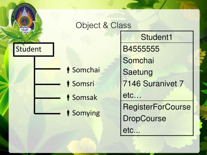 Object & Class