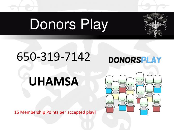 Donors Play