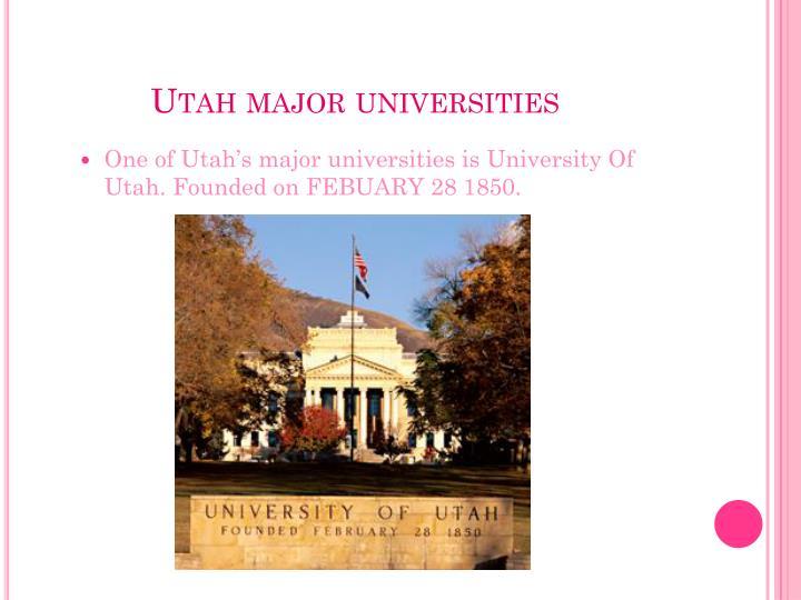 Utah major universities