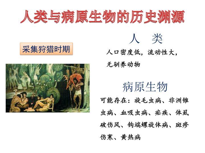 人类与病原生物的历史渊源
