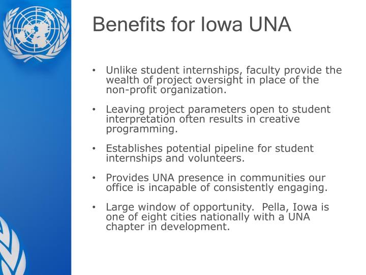 Benefits for Iowa UNA