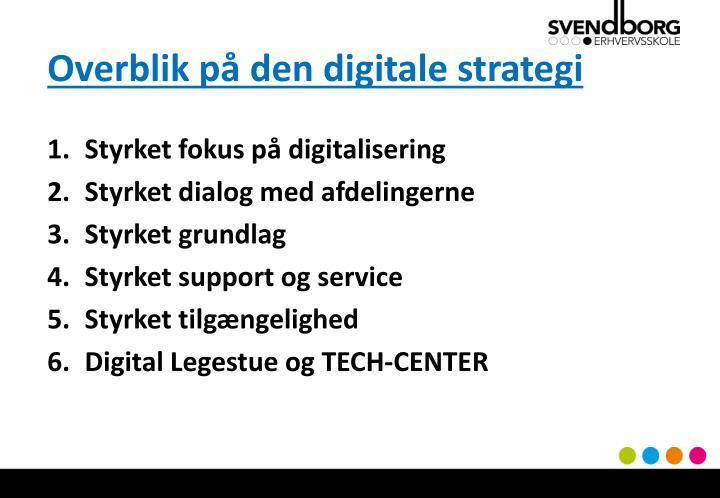 Overblik på den digitale strategi