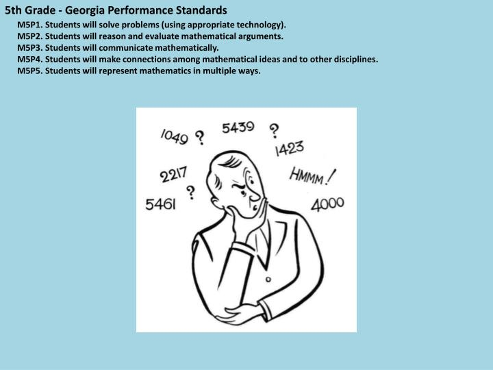 5th Grade - Georgia Performance Standards