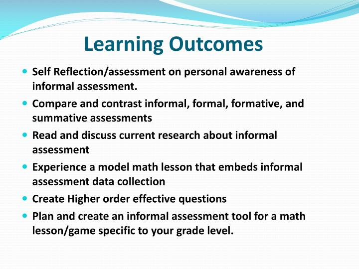 Learning Outcomes