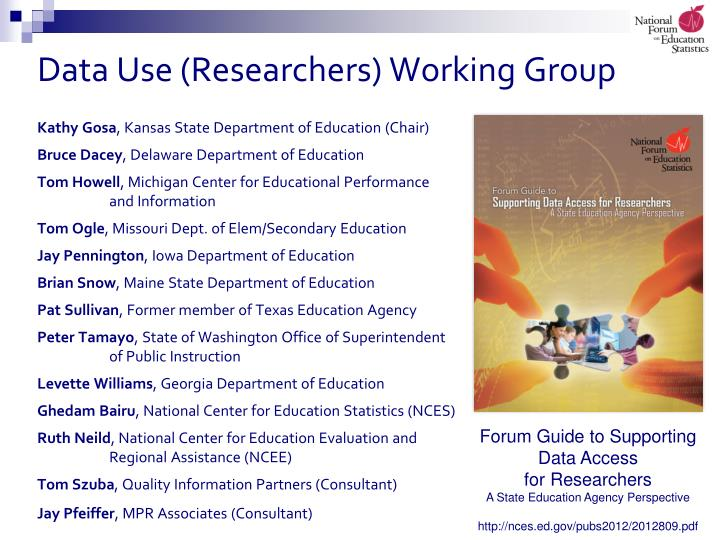 Data use researchers working group