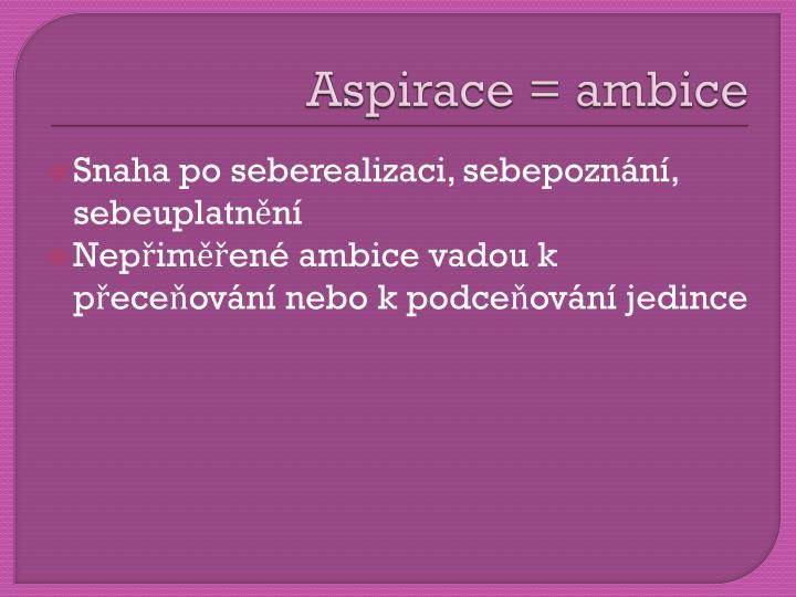 Aspirace = ambice
