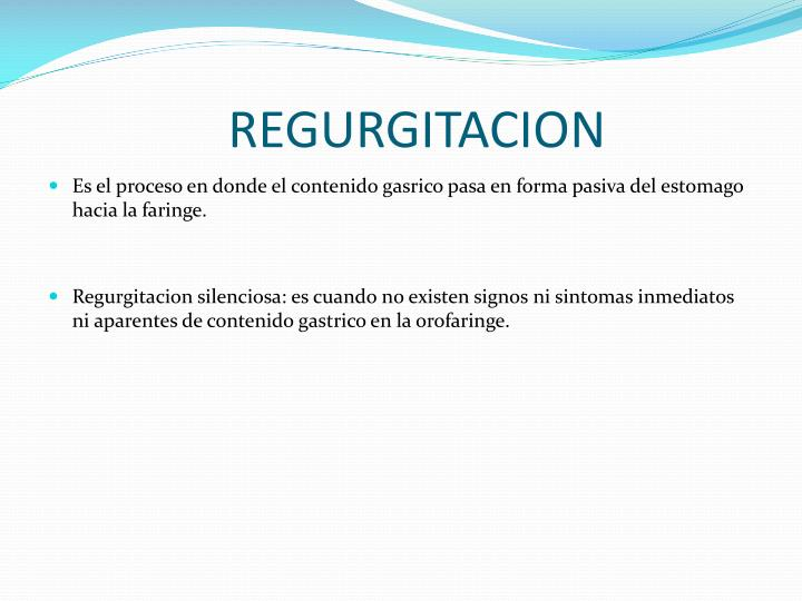 REGURGITACION