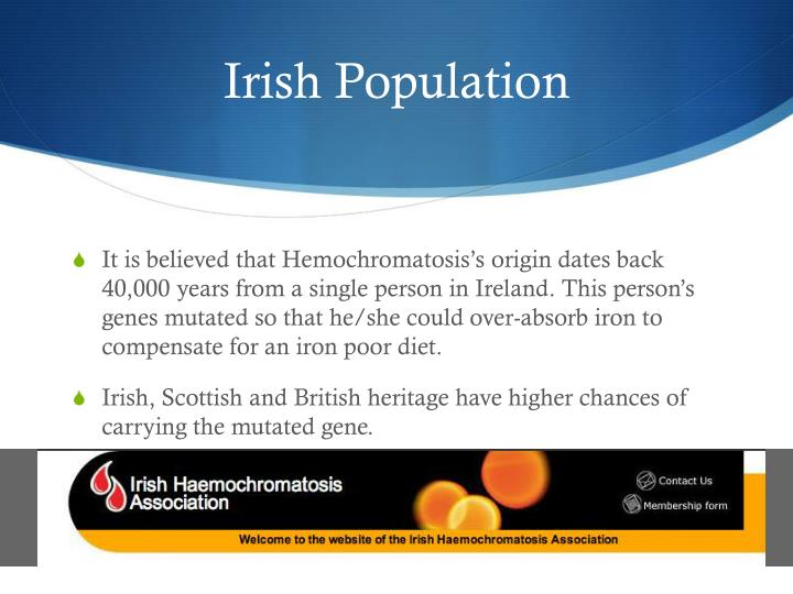 Irish Population