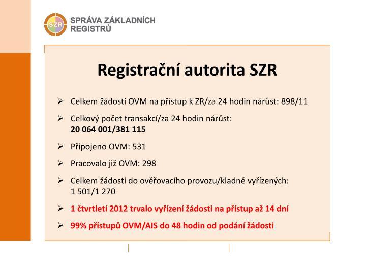 Registrační autorita SZR