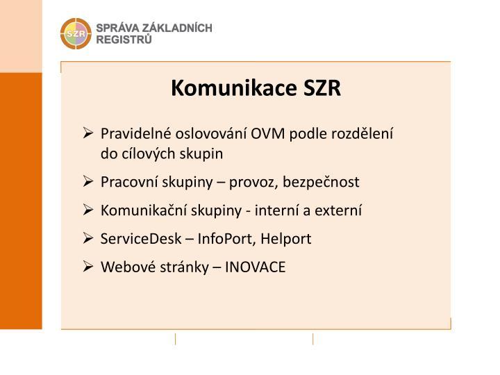 Komunikace SZR