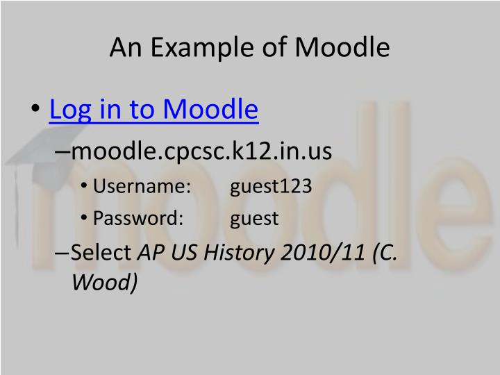 An Example of Moodle