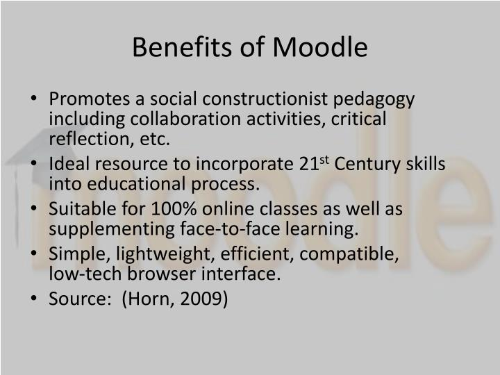 Benefits of Moodle