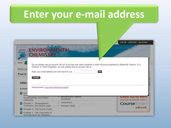 Enter your e-mail address