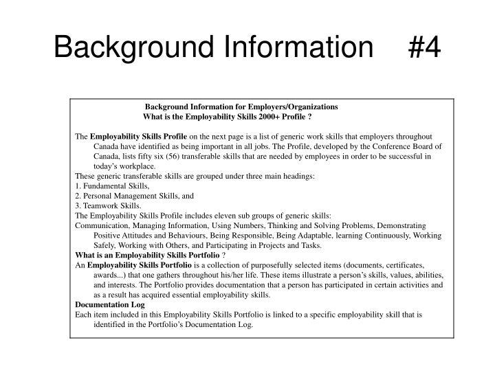 Background Information    #4
