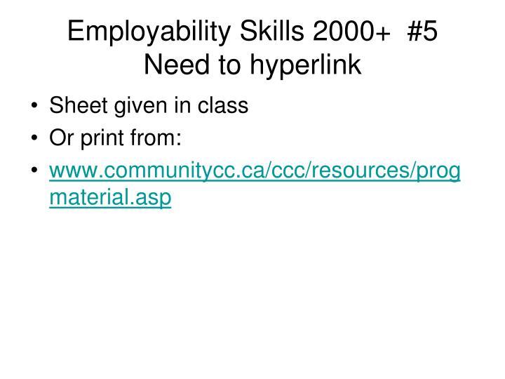 Employability Skills 2000+  #5