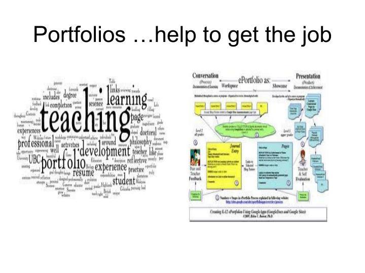 Portfolios …help to get the job