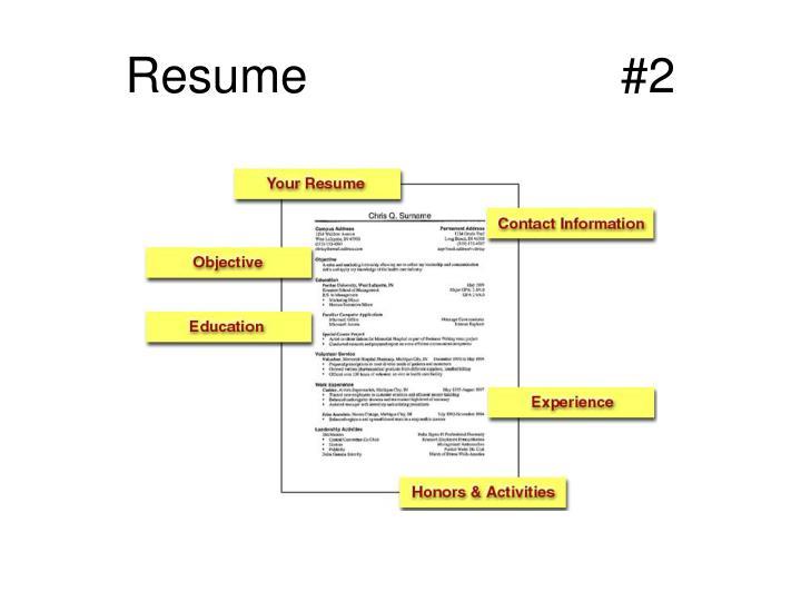 Resume                       #2