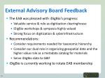 external advisory board feedback
