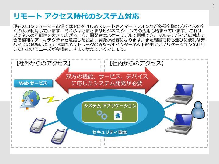 リモート アクセス時代のシステム対応