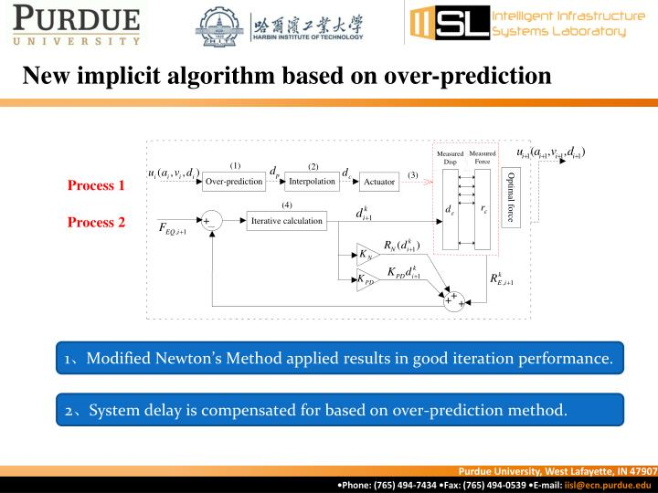 New implicit algorithm based on over-prediction