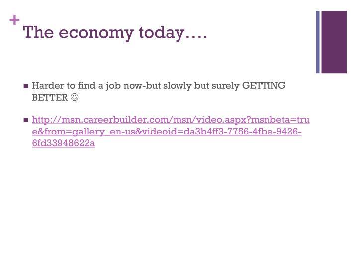 The economy today….