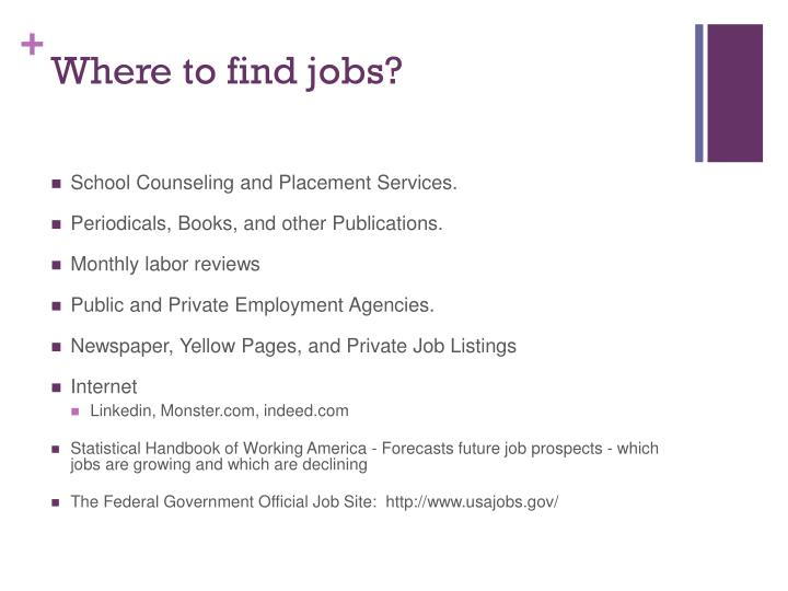 Where to find jobs?