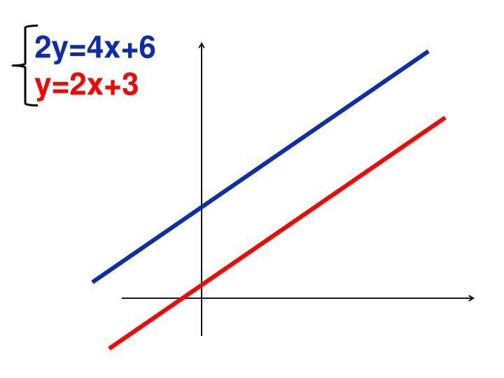 2y=4x+6