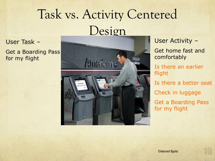 Task vs. Activity Centered Design