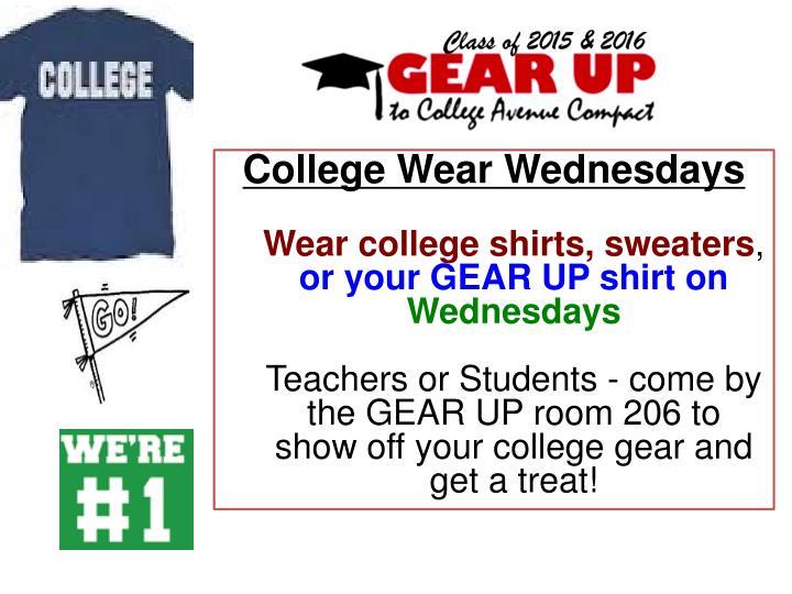 College Wear Wednesdays