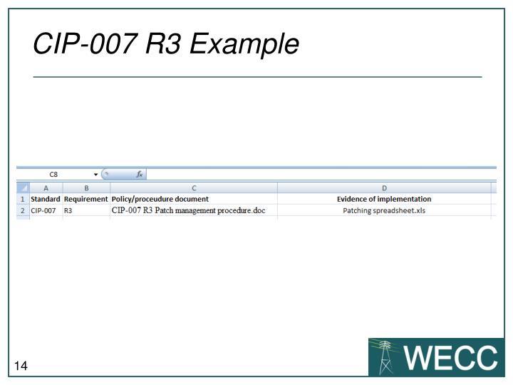 CIP-007 R3 Example