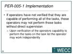 per 005 1 implementation5