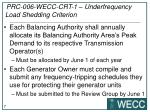 prc 006 wecc crt 1 underfrequency load shedding criterion1
