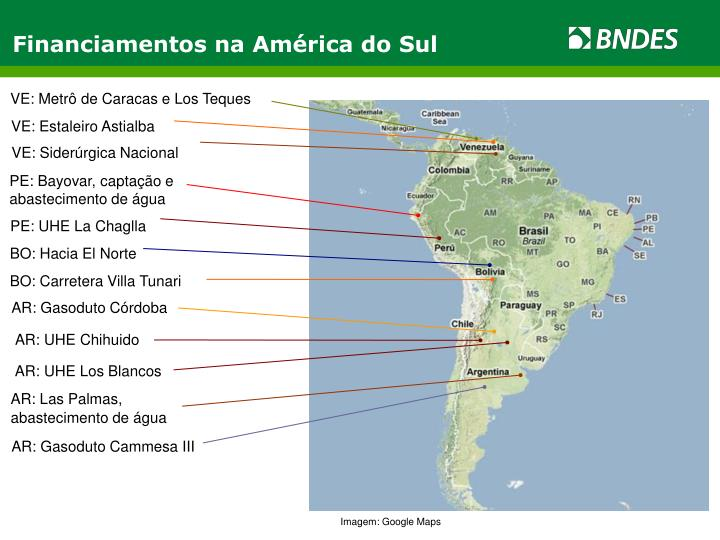 Financiamentos na América do Sul
