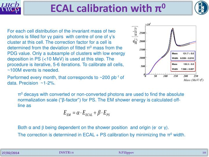 ECAL calibration with