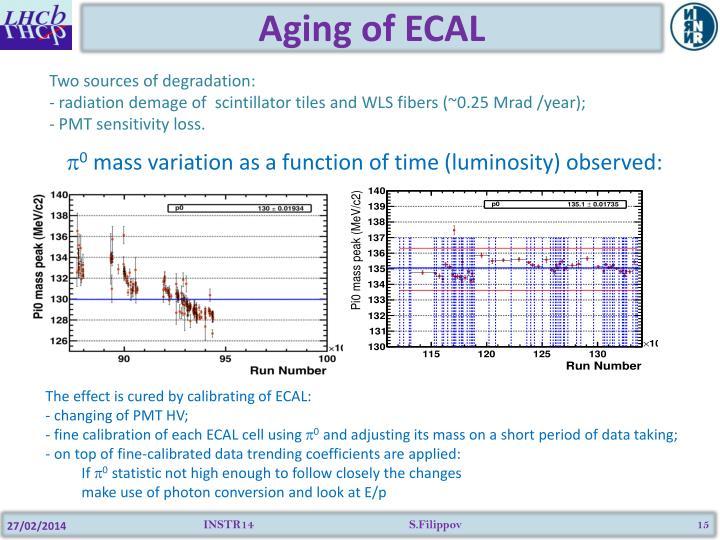 Aging of ECAL
