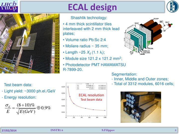 ECAL design