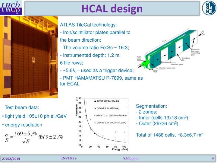 HCAL design