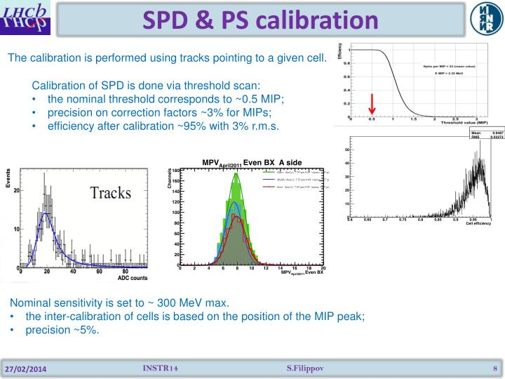 SPD & PS calibration