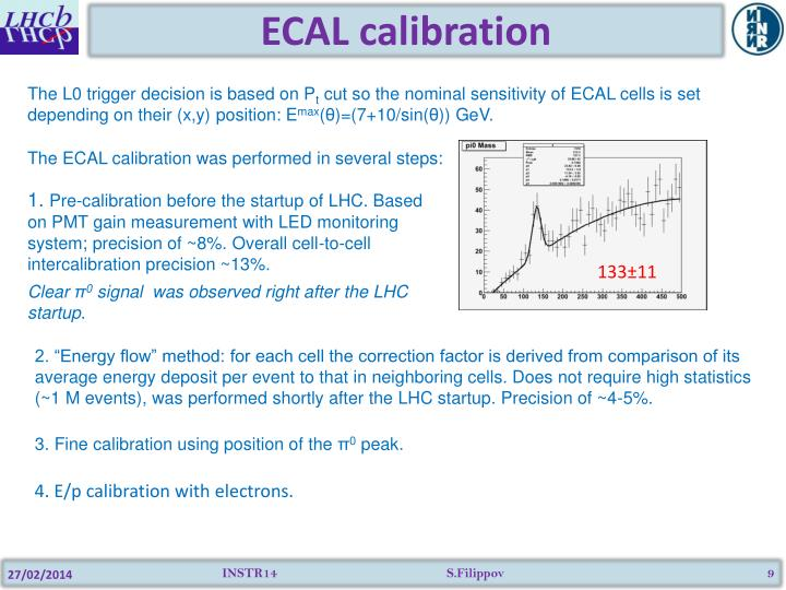 ECAL calibration