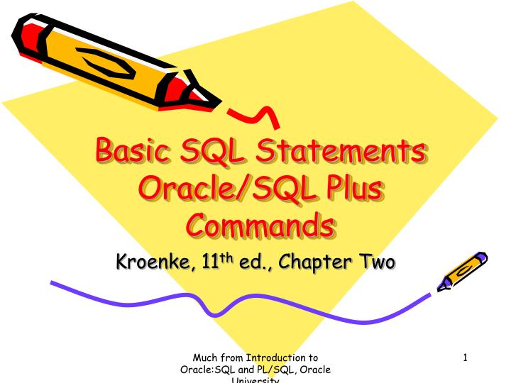 Basic SQL Statements