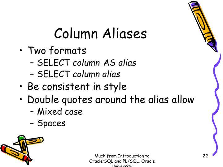 Column Aliases