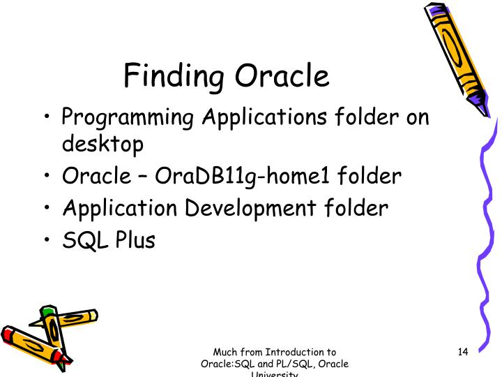 Finding Oracle