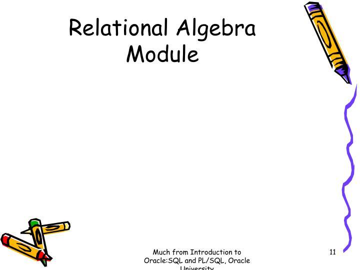 Relational Algebra Module