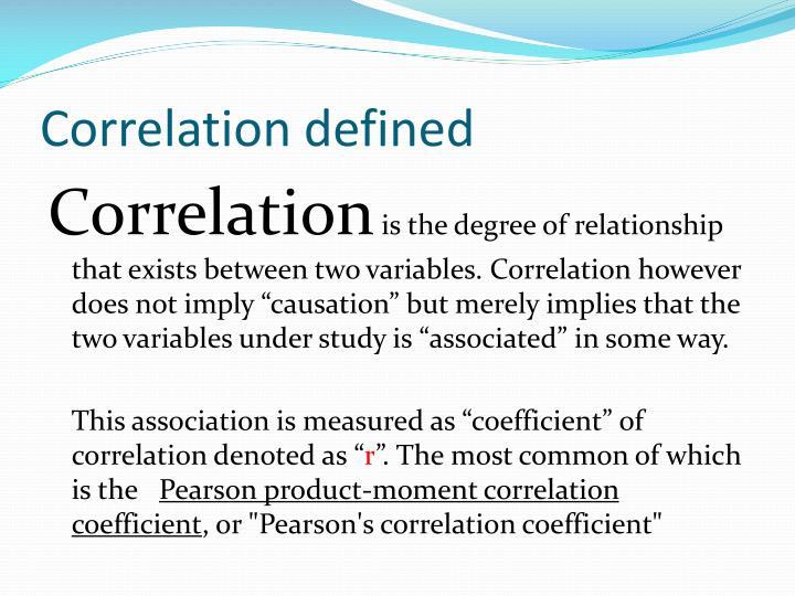 Correlation defined