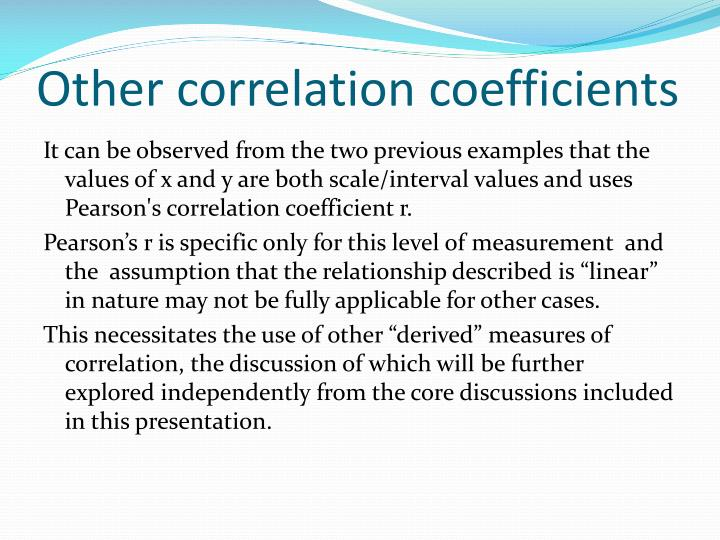 Other correlation coefficients