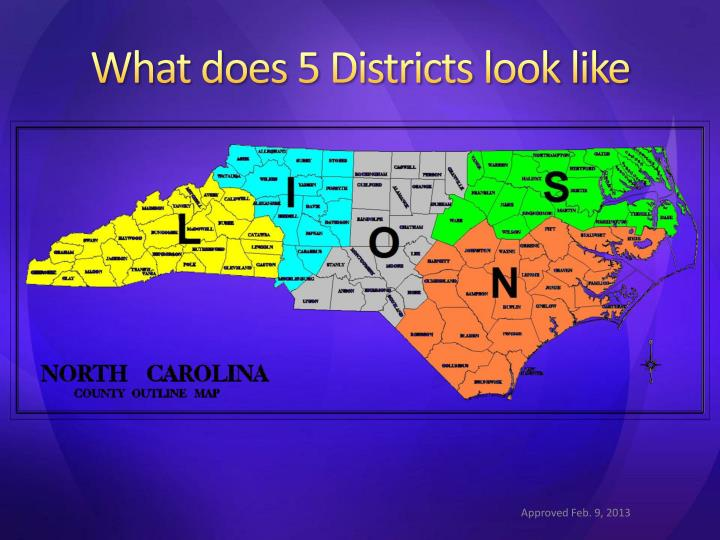 What does 5 Districts look like