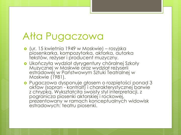 Ałła Pugaczowa