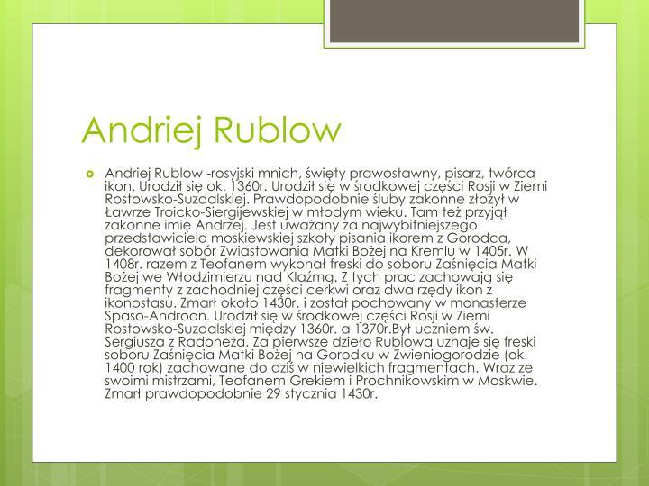 Andriej Rublow