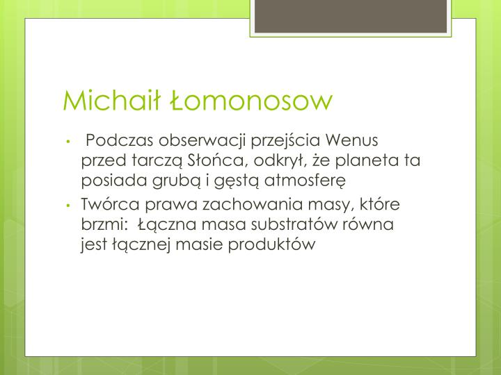 Michaił Łomonosow